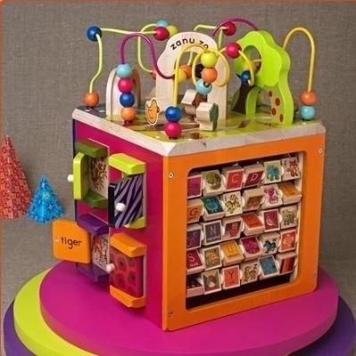 Juguetes De Madera Grande de Cuentas de cuentas alrededor del pecho de 1-3 años de edad los niños en la primera infancia educativos del bebé juguetes