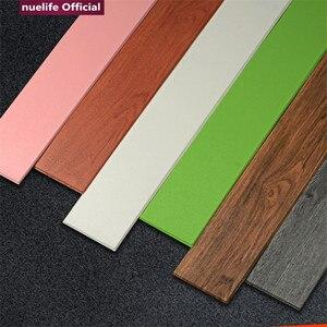 Piso de madeira pvc padrão anti-colisão à prova dwaterproof água sala de estar adesivos linha pé quarto escadas linha de chão adesivos de parede
