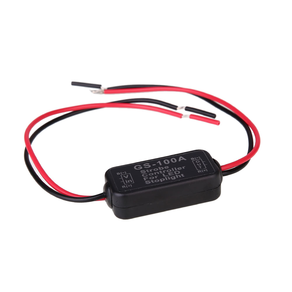 Vehemo GS-100A 8-30V Flash Strobe Controller Flasher Module For Flashing LED Back Rear Brake Stop Light Lamp Car Accessories module gs r400v module rxdz