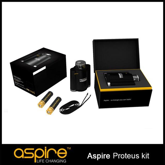 100% originales Aspire Proteus e-pipa de cigarrillos E Kit Dual 18650 Hookah vaporizador con 10 ml tanque 0.25 ohm Aspire Proteus Kit