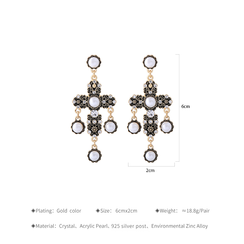 14bcb40a64 Aliexpress.com : Buy KISS ME Green White Acrylic Rhinestone Flower Cross  Dangle Earrings Classic Fashion Earrings for Women Indian Jewelry from ...