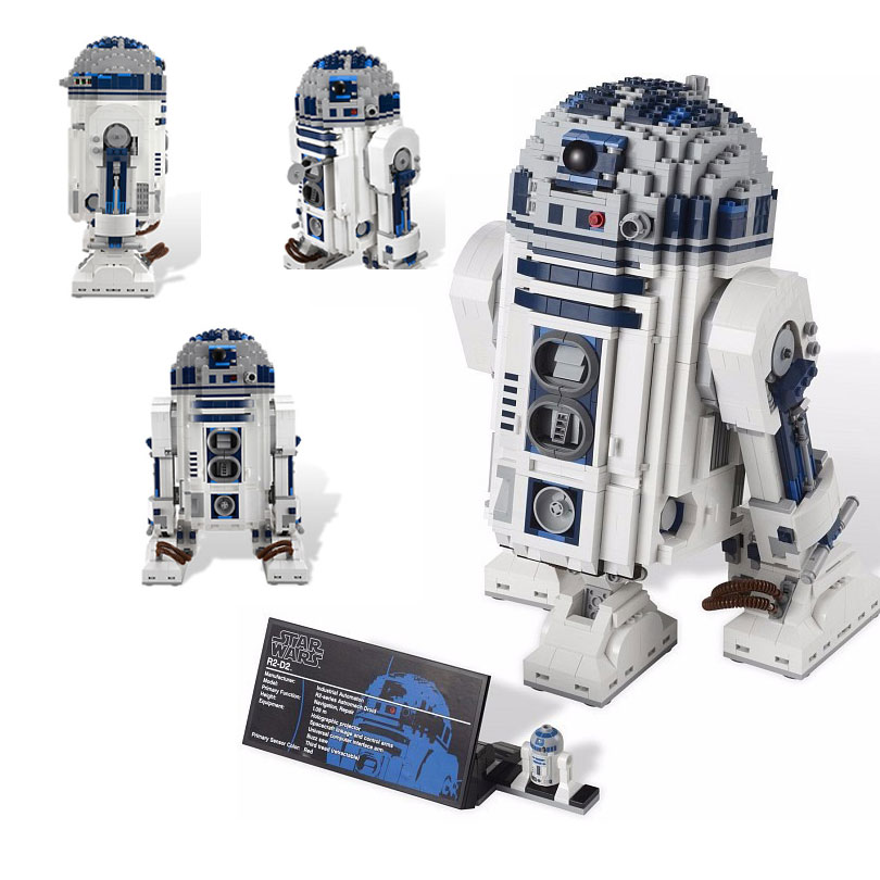 купить 2127Pcs Out of Print The R2-D2 Robot Set Model Building Blocks Bricks Toys Compatible Legoings Star Wars 10225