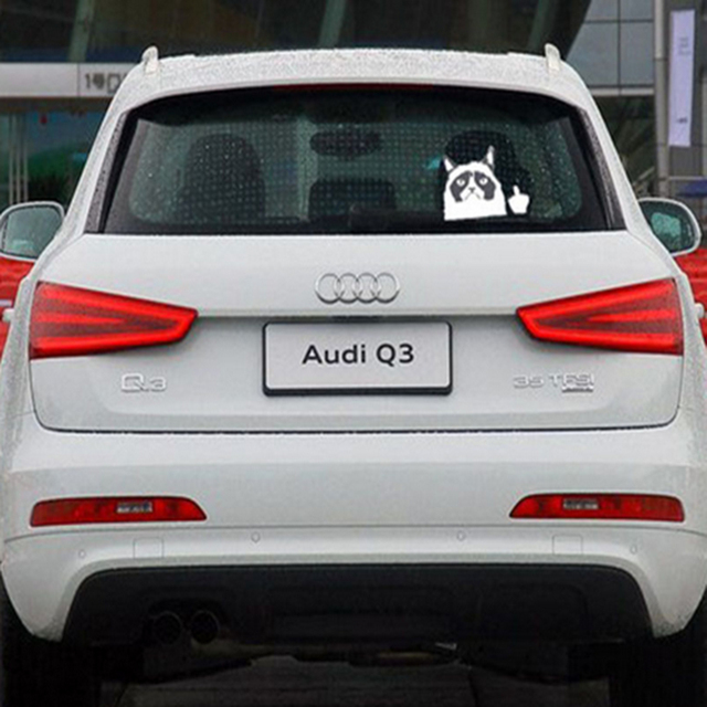 15cm*9cm Grumpy Cat Decals and Stickers On Cars Car Styling ... on