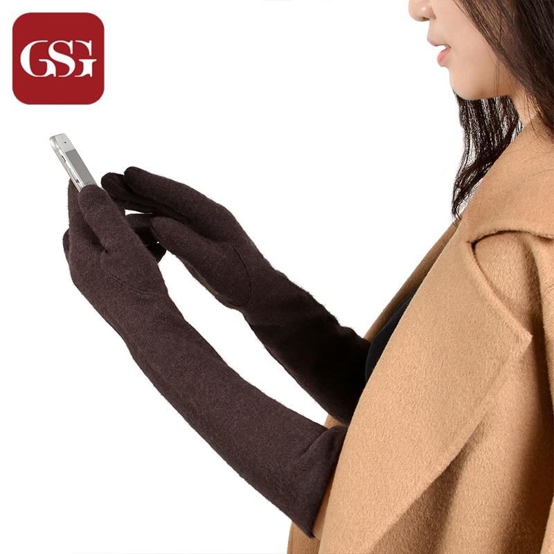 GSG Womens sarung tangan bulu panjang musim sejuk skrin sentuh sarung - Aksesori pakaian - Foto 6