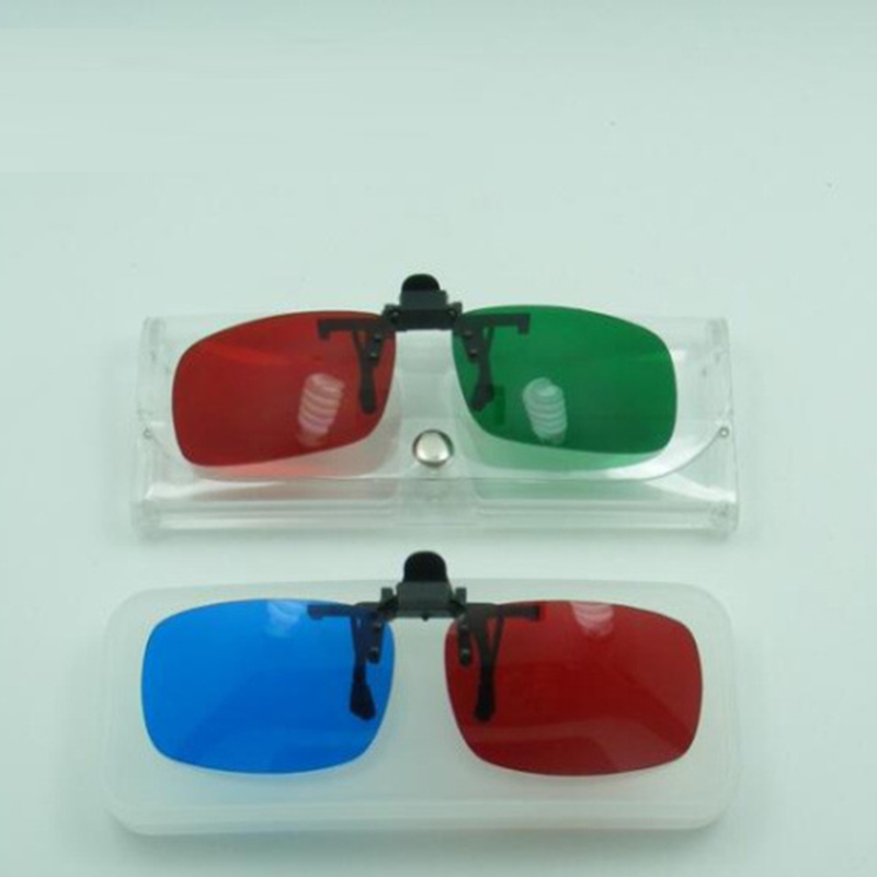 Red and Blue red and green virtual reality VR 3D glasses to watch 3D moive in computer a ...
