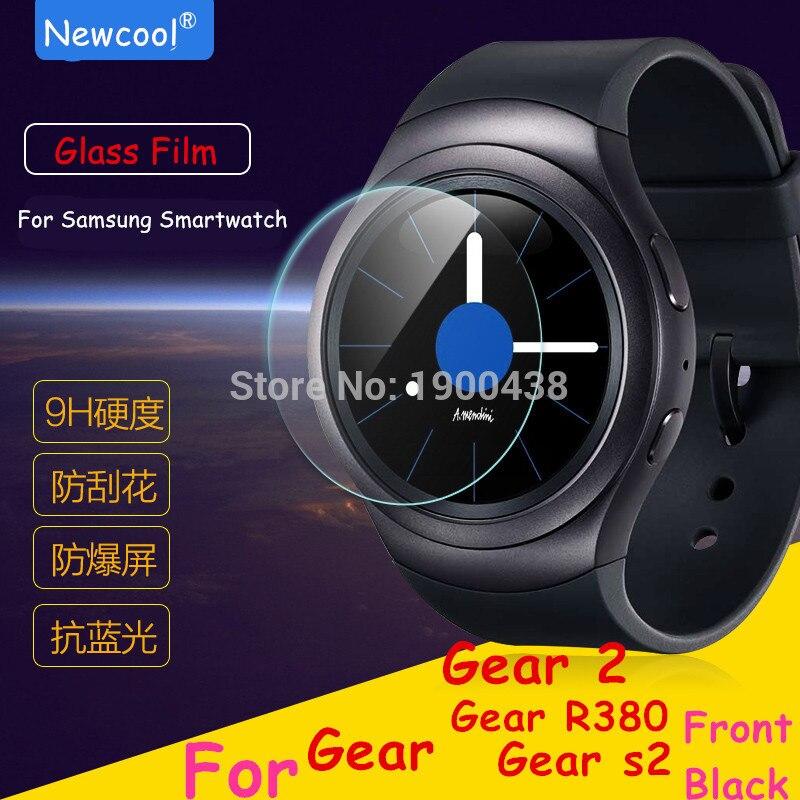 imágenes para 10 pc/lot al por mayor de cristal templado de cine para samsung gear s2 s3/gear2 reloj de engranajes 2 neo r380 smart protector de pantalla para s2 clásico