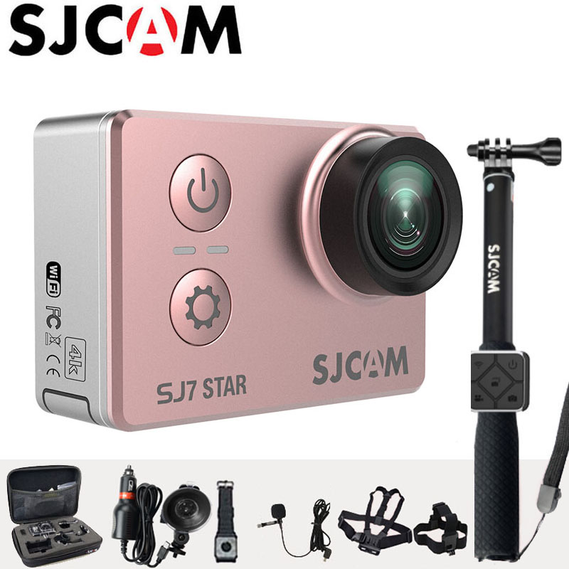 Action Camera 4K SJCAM SJ7 Star Sports DV WiFi Ultra HD 2.0 Touch Screen 30m Waterproof Remote Ambarella A12S75 Original SJ Cam original eken action camera eken h9r h9 ultra hd 4k wifi remote control sports video camcorder dvr dv go waterproof pro camera