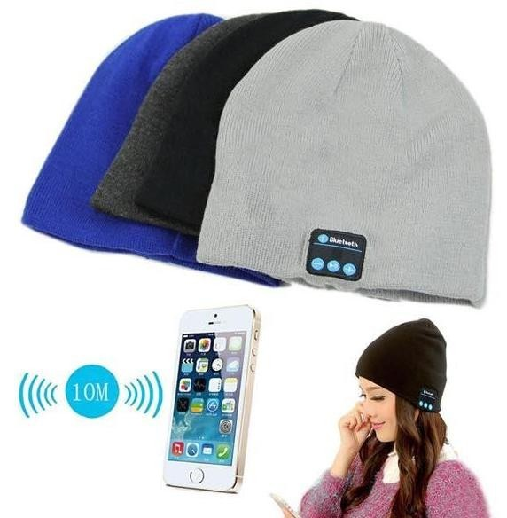 Hot sale Wireless Bluetooth Smart Cap Headphone Headset Speaker Mic Warm Beanie Hat Music Player For Iphone Samsung sport bluetooth music hat cap handsfree headset headphone built in speaker mic