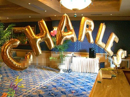 letter a z 40 inch size l golden foil mylar helium balloons for birthday wedding party decoration