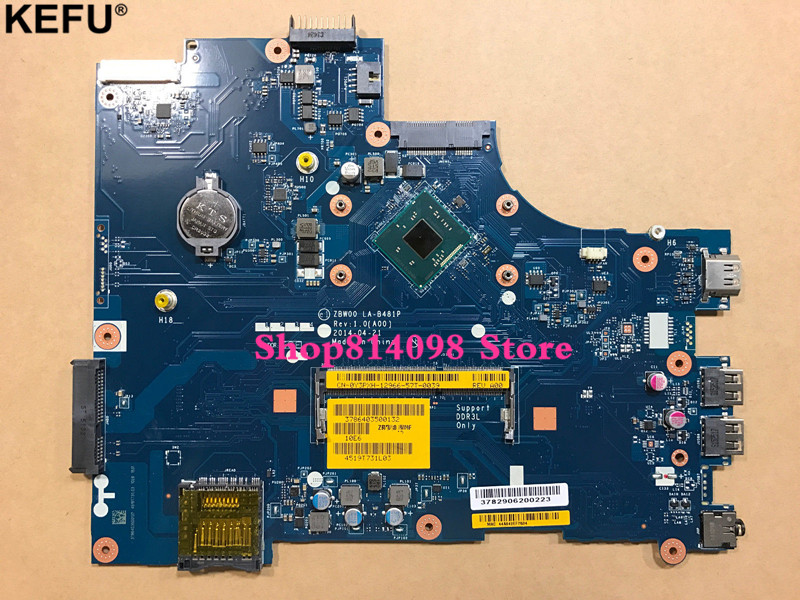 CN-0Y3PXH HY3PXH 28V9W Laptop Motherboard Fit For <font><b>Dell</b></font> <font><b>Inspiron</b></font> <font><b>15</b></font> <font><b>3531</b></font> N3530 Quad Core 2.16GHz Motherboard image