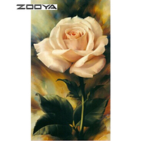 NEW 5D Diamond Painting Flowers Kit Cross Stitch Square Drill Diamond Embroidery Needlework Room Decoration Rose
