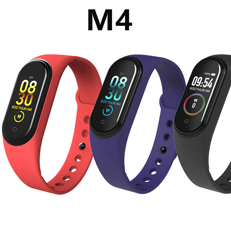 M4 Smartband 10Pcs/lot In Stock Bracelet Watch Heart Rate Monitor Fitness Tracker Activity Blood Pressure Wristband Android Ios