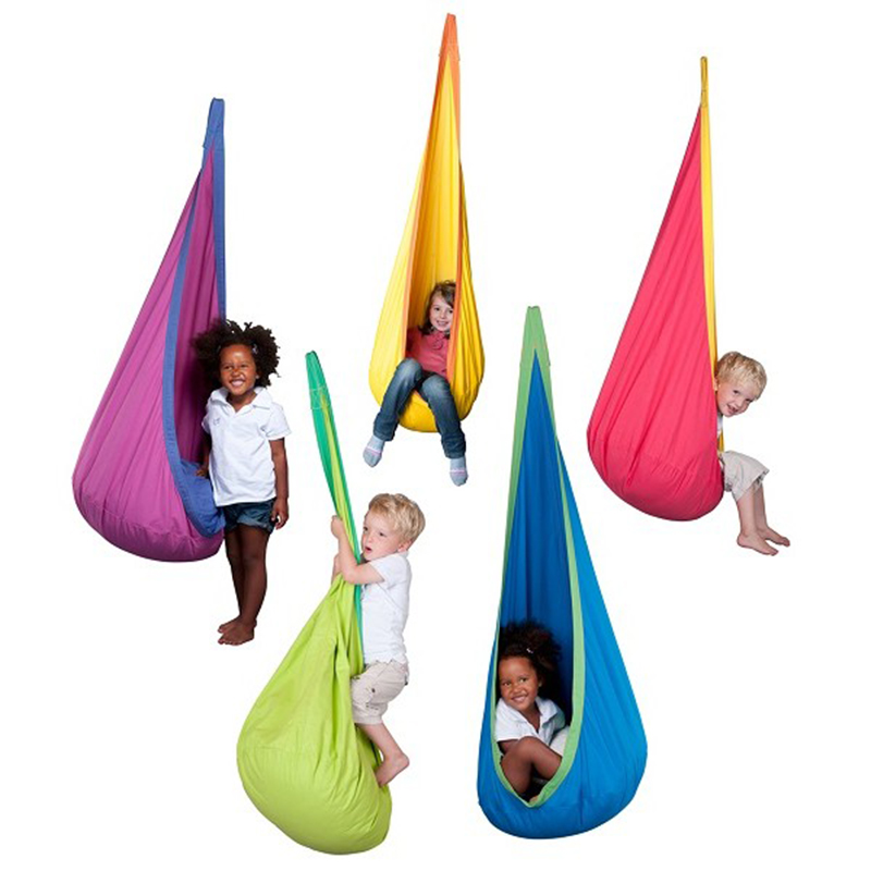 New Baby Toy Swing Hammock Chair Indoor Outdoor Hanging Toy Children Swing Chair Seat Hangstol For Reading Tent Relax Kids Gifts three colors baby rocking swing kids swing chair indoor outdoor hanging chair child swing seat 2015 new arrival style wholesale