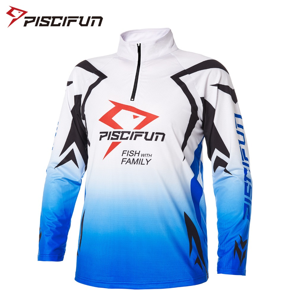 Piscifun New Dry Quickly Fishing Shirt Long Sleeve Breathable Fishing Clothing Outdoor Hiking Cycling Clothes Camisas Pesca