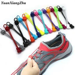 1 пара шнурки для кроссовок 22 Цвета эластичные шнурки для обуви Растяжка блокировки обувь с кружевами аксессуары lacets elastique chaussure кружева T1