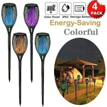 цена 7 Color Solar garden Light Outdoor flame Waterproof LED Solar Torch Lamp Landscape Lawn Lamp онлайн в 2017 году