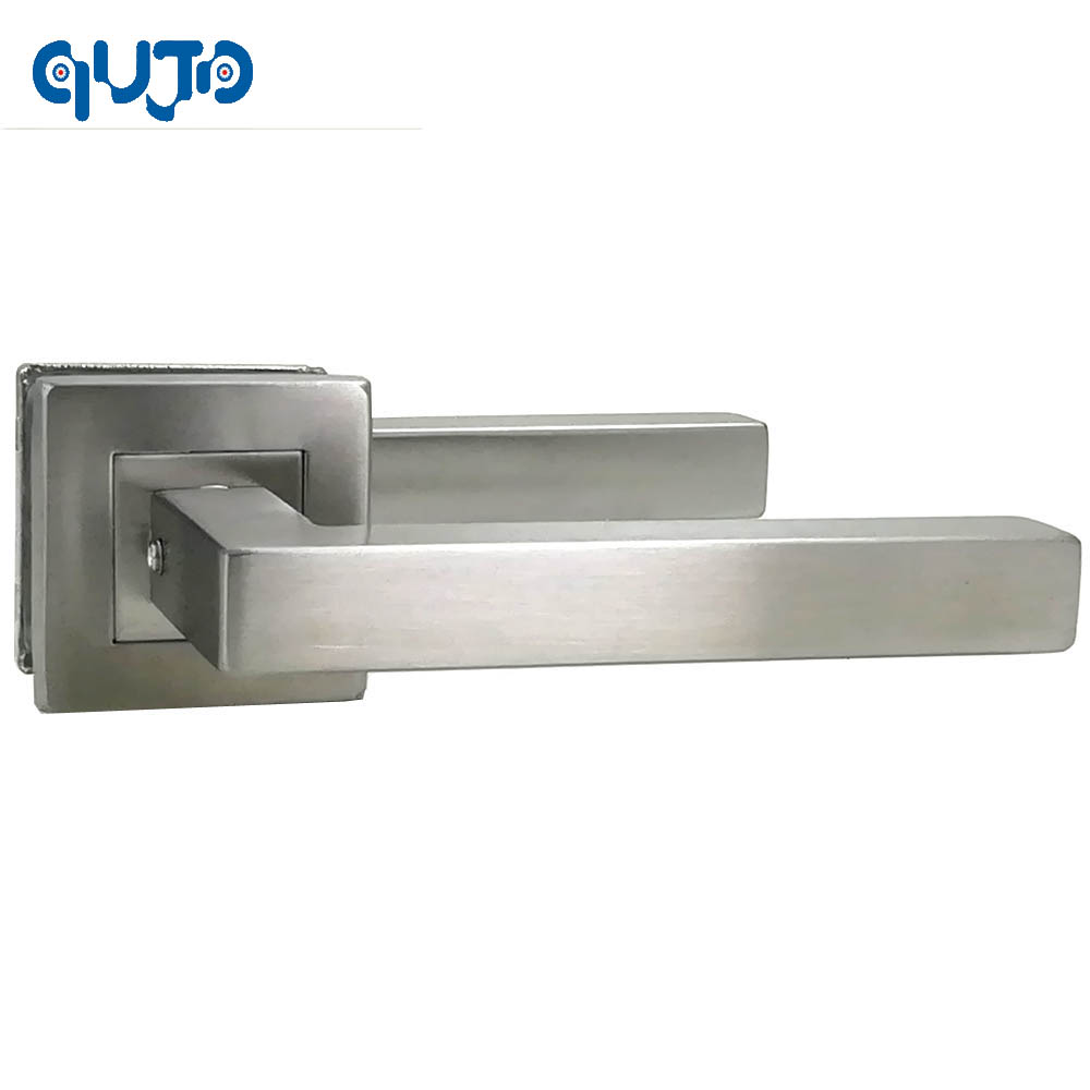 Modern Stainless Steel Square Tube Interior Door Handle And 140mm Handles For Gate Door Brushed Finished gx diffuser handles for interior doors 304 stainless steel hidden brush house indoors handle modern metal handles for wood gate
