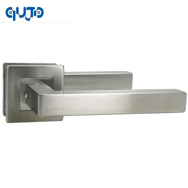 Modern Stainless Steel Square Tube Interior Door Handle And 140mm Handles  For Gate Door Brushed Finished