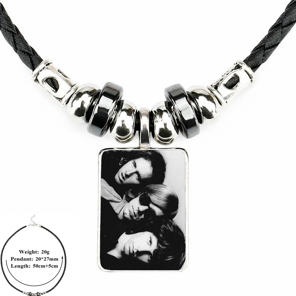 ba49dab89b241 US $1.89 |EJ Glaze For Women Gifts Boy Jim Morrison Black Leather Bead  Pendant Jewelry Necklace Jewelry Pendant Crystal-in Pendant Necklaces from  ...