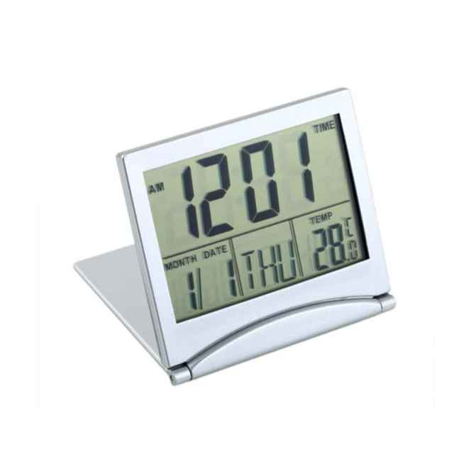 2017 New Arrival LCD Display Calendar Alarm Clock Desk Digital Thermometer Cover Flexible Desk Table Clock