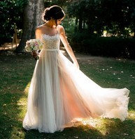 Luxury 2016 Sheath Wedding Dress Sexy Couture Style Designer Party Bridal Dresses Real Pictures