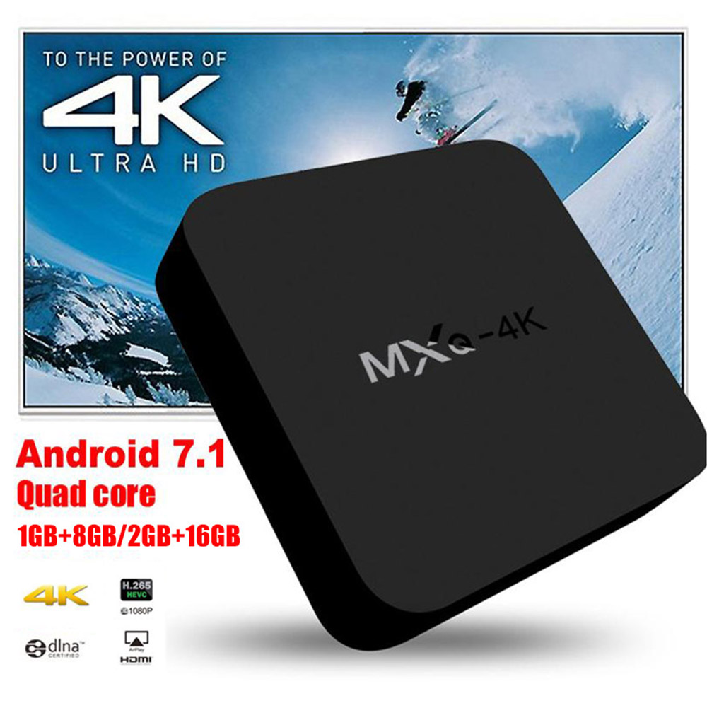 MXQ-4K Android 7.1 TV Box RK3229 1GB+8GB Smart TV BOX Quad Core Media Player Wifi MXQ 4K Set Top Android Box high qualityMXQ-4K Android 7.1 TV Box RK3229 1GB+8GB Smart TV BOX Quad Core Media Player Wifi MXQ 4K Set Top Android Box high quality