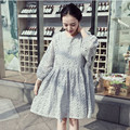 Fashion Loose Style Summer Dress Women Elegant Grey Lace Party Dresses Pregnant Clothes Plus Size for Pregnancy Wear 3663