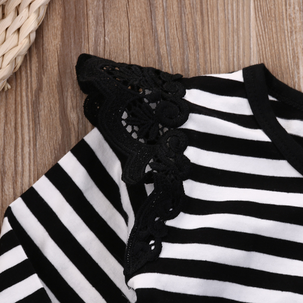 c50d23d7c43 Hot Newborn Infant Baby Girl Bodysuit Floral Long Sleeves Black White  Stripe Outfits Sunsuit Clothes-in Bodysuits from Mother   Kids on  Aliexpress.com ...