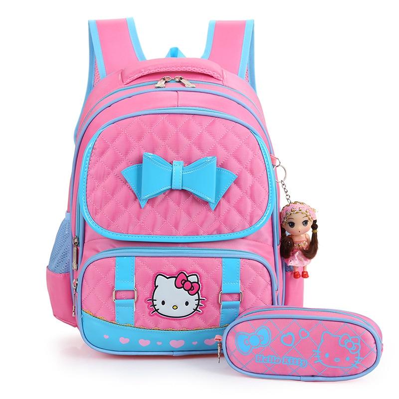 Children School Bags Set Primary School Backpack Girls Kids