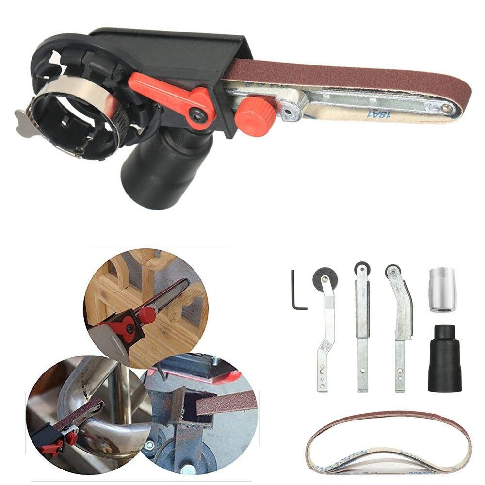 Mini DIY Schleifen Gürtel Kopf elektrische bohrer winkel Grinder Maschine Spitzer Stecher Schleifen für Bulgarische 100/115/125mm Adapter