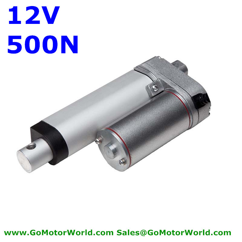 waterproof 12V 100mm 4inch stroke 500N  load 6mm/s speed heavy duty linear actuator free shippingwaterproof 12V 100mm 4inch stroke 500N  load 6mm/s speed heavy duty linear actuator free shipping