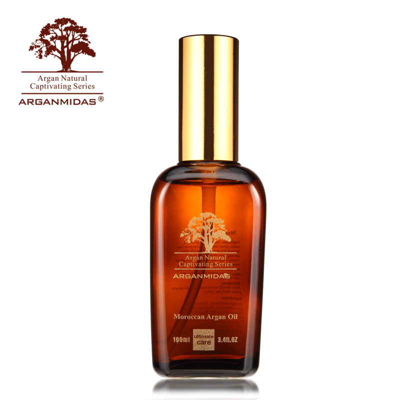 Arganmidas 100ml Moroccan Argan Oil Hair & Scalp Treatment for Dry and Damaged Hair Make Your Hair Soft/Shine d angello morocco argan oil scalp for frizzy dry hair keratin repair treatment hair care keratin hair split ends conditioner