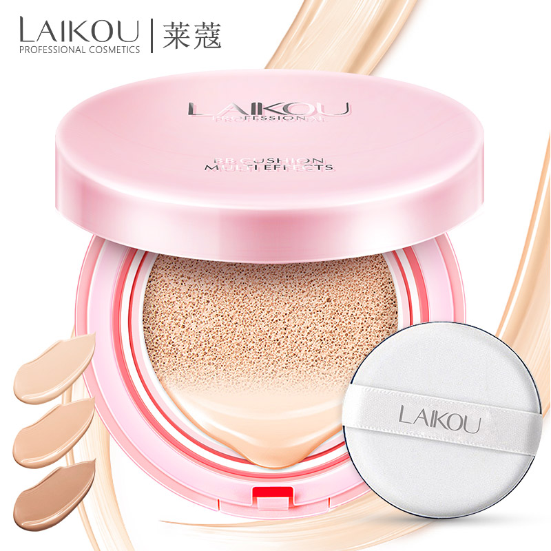 Brand LAIKOU Air Cushion BB Cream Concealer Makeup Korean Cosmetics Bare Make up Foundation Sunscreen Moisturizing CC Isolation тональная основа make up store instant perfection bare цвет bare variant hex name ddba9a