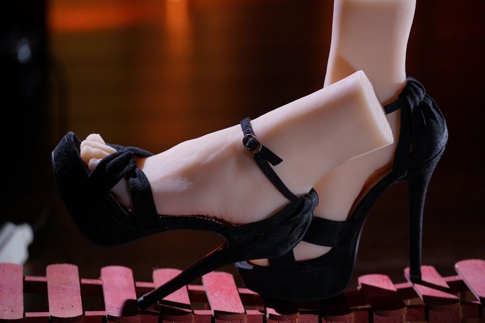 Free Shipping!17cm 41# male Silicone Fake Foot,Inner-Bone Inside,Toe Move Freely,Feet Model,Shoe Model 28cm 36 male boys silicone fake foot inner bone inside toe move freely feet model shoe model f 505