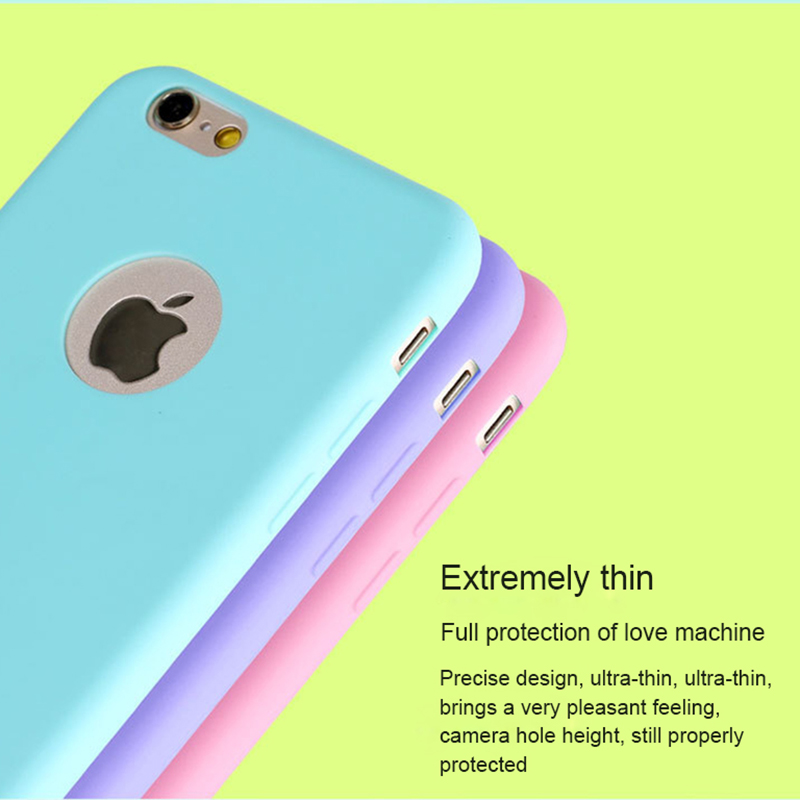 Soft Silicone Candy Color Phone Cover Shell Made Of Imported TPU Material For iPhone 4