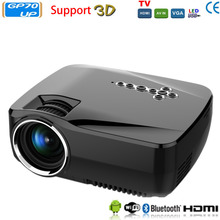3D Android 4.4 Projector 1200 Lm Support 1920x1080P Analog TV LED Projector MINI wifi Projector for Home Theater Cinema GP70UP