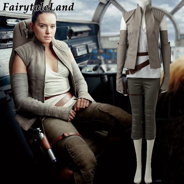 Star Wars The Last Jedi Rey Cosplay Costume Carnival Halloween Cosplay Rey Costume Star Wars suit Rey clothing Custom made