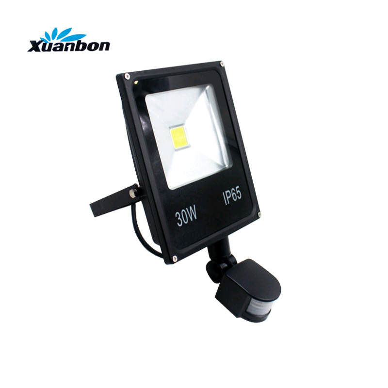Ultrathin 10W 20W 30W 50W LED Flood light With PIR Motion Sensor Detector waterproof Spotlight Outdoor IP65 Floodlight free dhl fedex 85 265v 10w 20w 30w 50w 70w 100w pir led floodlight with motion detective sensor outdoor led flood light spot