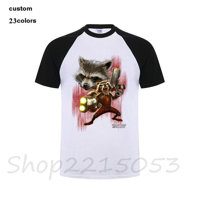 c80367373798 Twisted Rocket Racoon Raccoon T-Shirt Men Designer Short Sleeve Cotton  Custom 3XL Guardians Of