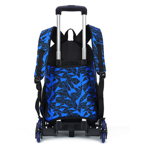 Image 2 - teens School Backpack Removable Children School Bags With 2/6 Wheels Stairs Kid boys girls Trolley Schoolbag Luggage Book Bag