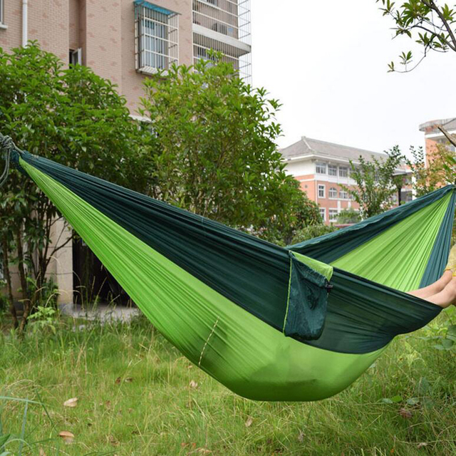 portable nylon parachute double hammock garden outdoor camping travel furniture survival hammock swing sleeping bed for portable nylon parachute double hammock garden outdoor camping      rh   aliexpress