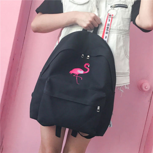 d41076e73e81 Detail Feedback Questions about New Stylish New Flamingo Women Girls Backpack  Cute Canvas Backpack Female School Bags for Teenagers on Aliexpress.com ...
