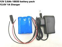 VariCore 12 V 12 V 2600 mAh batería de iones de litio de 12,6 V a 11,1 v CCTV Cámara pack de batería recargable + 12,6 V 1A cargador