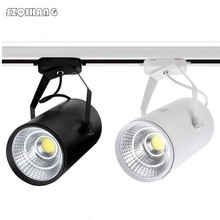 15W 20W 25W Led Track light aluminum Ceiling Rail lighting COB Spot Spotlights Replace Halogen Lamps 85-265V/AC