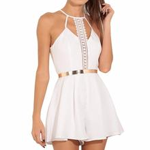 4 2018 NEW Fashion Women Solid Lace Sling Vest Rompers Camisole Jumpsuits Clothes