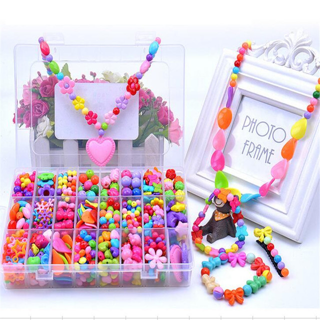 ファッション販売混合アクリルビーズセットアクセサリー用diyネックレス\u0026ブレスレット女の子発達おもちゃ子供