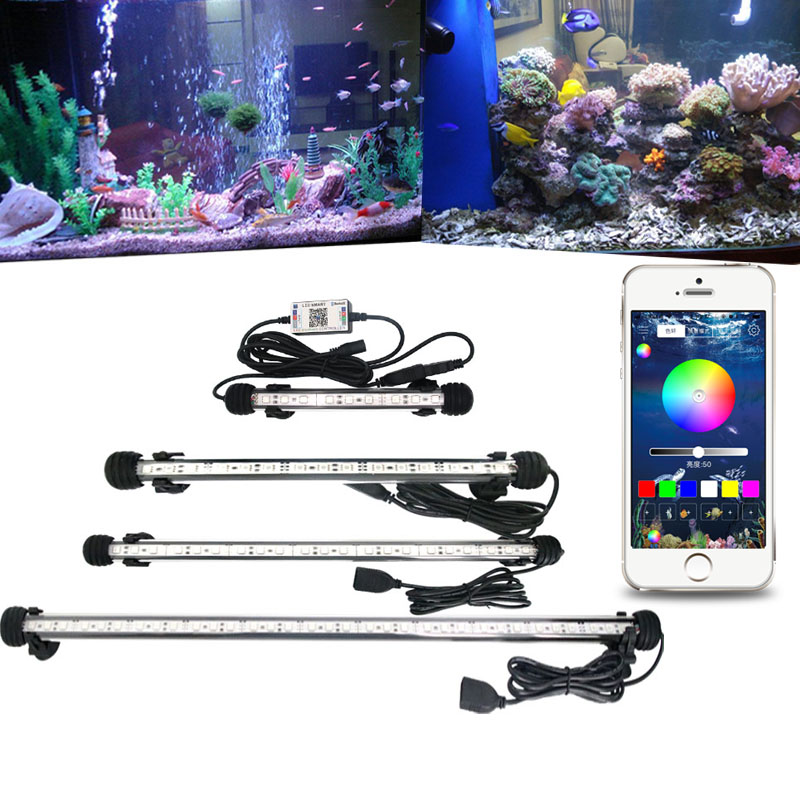 RGB Aquarium Light Marine Bluetooth Controller Fish Tank Led Lighting Fixture For Aquarium Led Light Submersible