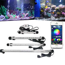 RGB Aquarium Light Marine Bluetooth Controller Fish Tank Led Lighting Fixture For Aquarium Led Light Submersible Fish Tank Light - DISCOUNT ITEM  20% OFF Home & Garden