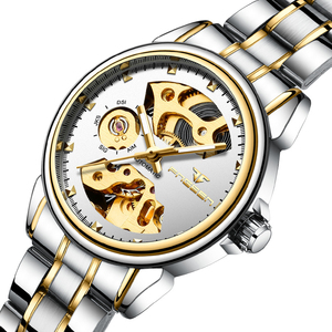 Image 3 - 2019 luxo feminino relógio mecânico automático relógio de negócios senhoras relógios à prova dwaterproof água oco rosa mecânico relógio para presente feminino