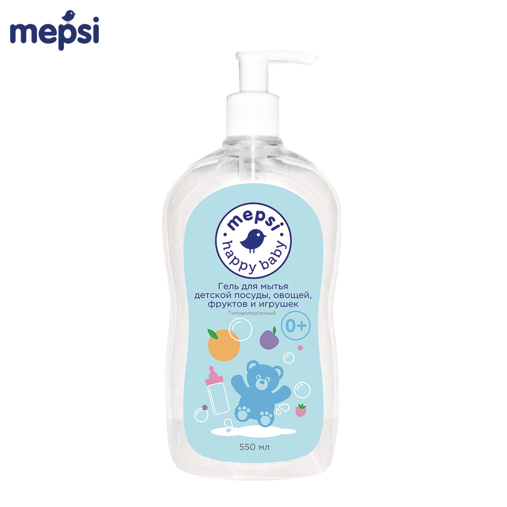 Dish Soap MEPSI 0155 Hypoallergenic Gel for washing childrens dishes and toys